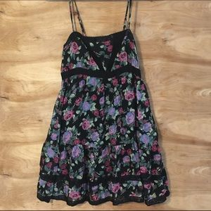 Forever 21 Womens Size Small Floral Sundress Lace